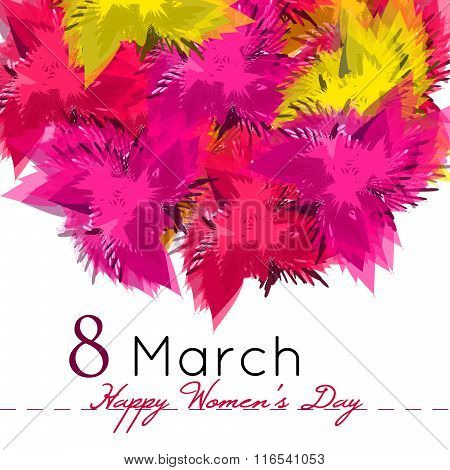 Happy Women's Day Background With Flowers. 8 March