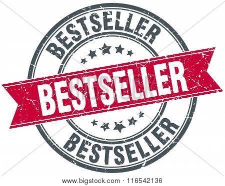 Bestseller Red Round Grunge Vintage Ribbon Stamp