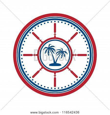 Palms symbol on white