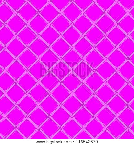 Seamless Pink Pattern With Rhombus.