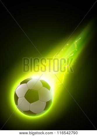 abstract vector football/soccer ball illustration