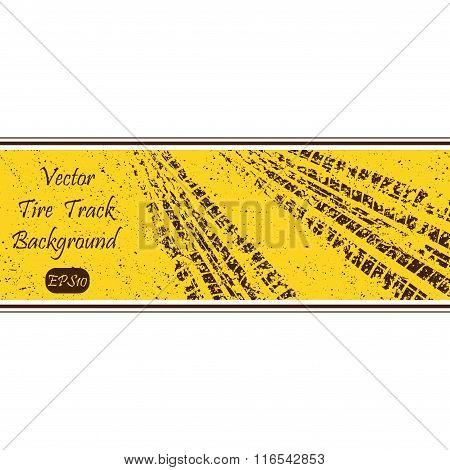 Tire track banner