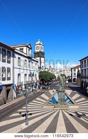 City Square (Praca Do Municipio), Ponta Delgada, Azores, Portugal