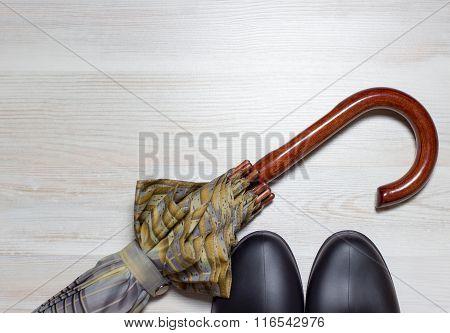 Shoes And Umbrella