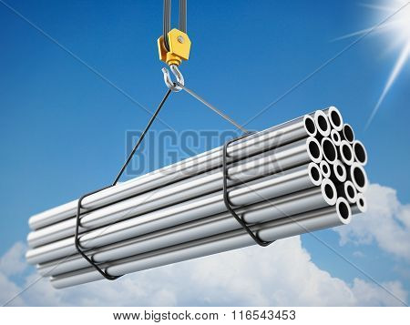 Crane Hook lifting steel tubes