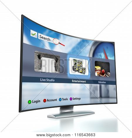 Curved Smart Tv With Oled Screen