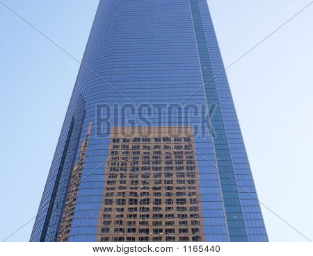 Downtown Los Angeles Buildings Reflecting Each  Other