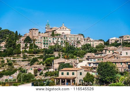 Beautiful view of the small town Valldemossa