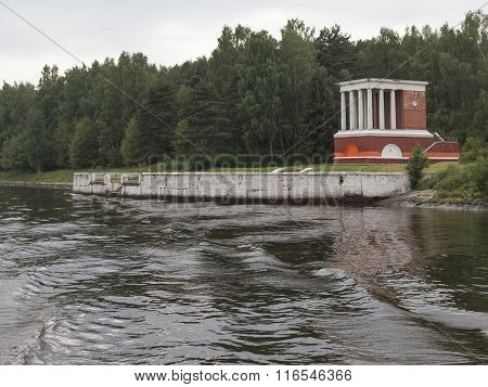 Old Pier On The Moscow Canal