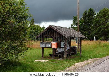 Bus stop.  Estonia