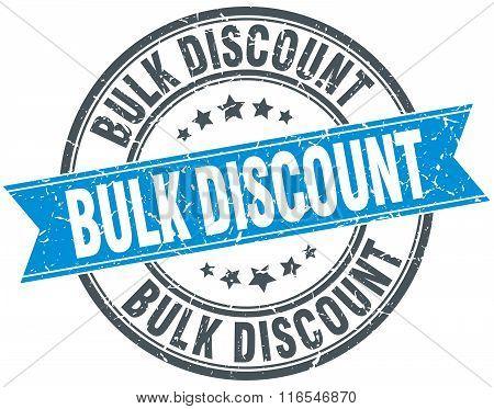 bulk discount blue round grunge vintage ribbon stamp