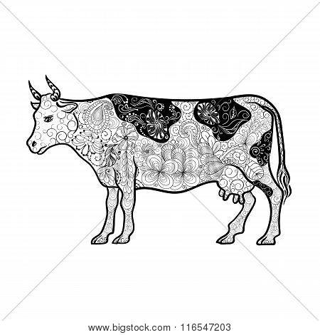Cow Doodle Illustration