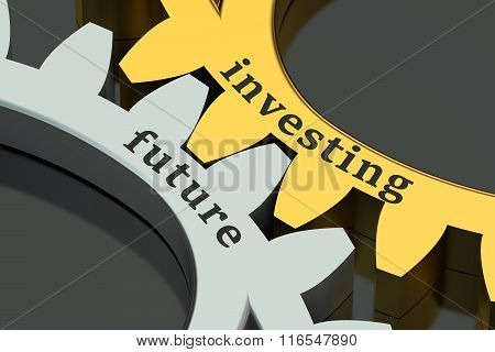 Investing Future Concept On The Gearwheels