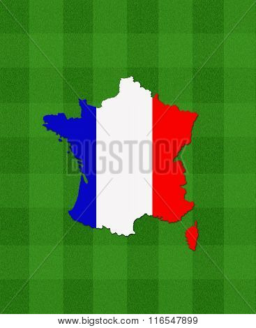 Map Of France On Football Field