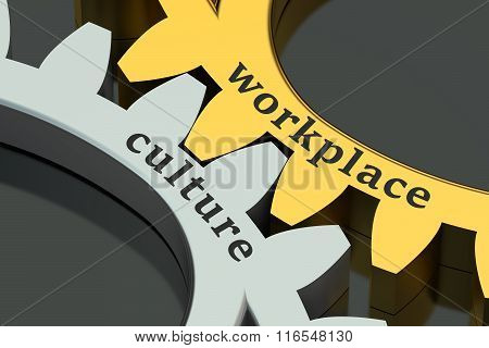 Workplace Culture Concept On The Gearwheels