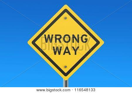 Wrang Way Road Sign