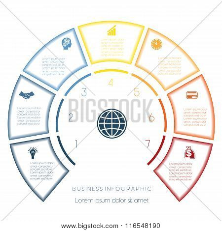 Semicircle Template From Infographic Seven Number Options
