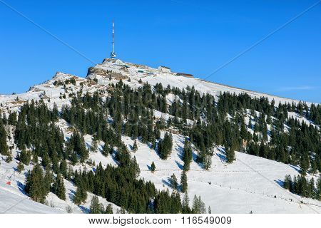 Top Of Mount Rigi In Winter