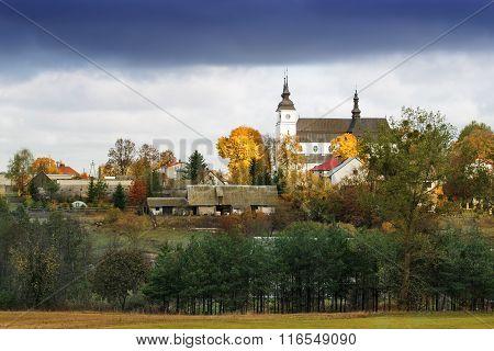 Goniadz autumn panorama