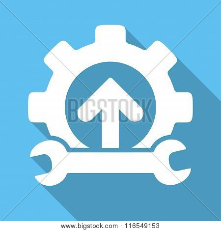 Integration Tools Long Shadow Square Icon