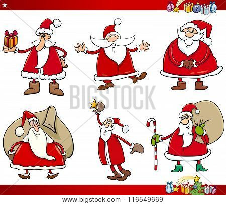 Santa On Christmas Time Set