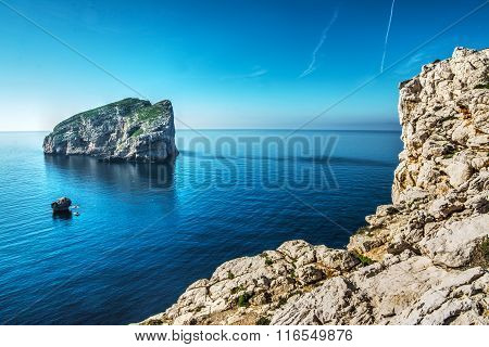 Foradada Island Seen From Capo Caccia