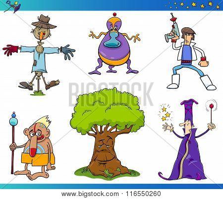 Fantasy Cartoon Characters Set