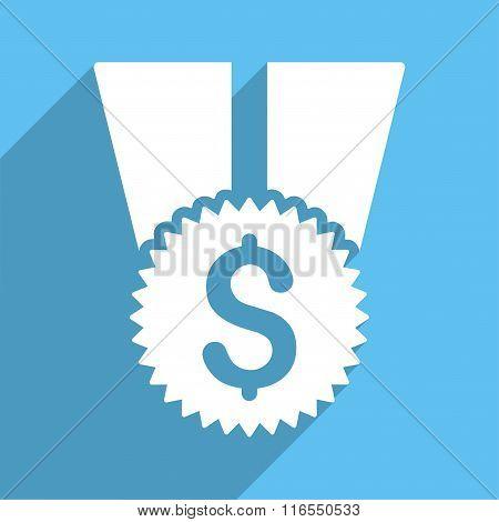 Financial Medal Long Shadow Square Icon