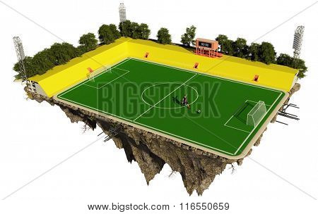 Football Field on the island in the sky.