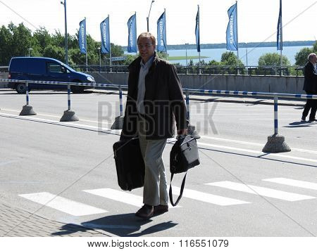 Traveller At The Airport