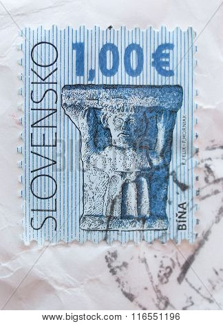 Slovak Stamp With Archaeological Fidings