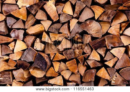 abstract natural background with firewood