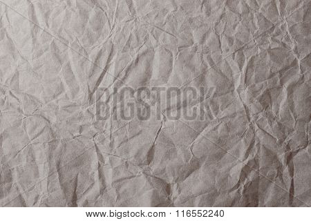 Brown Crumpled Paper For Background