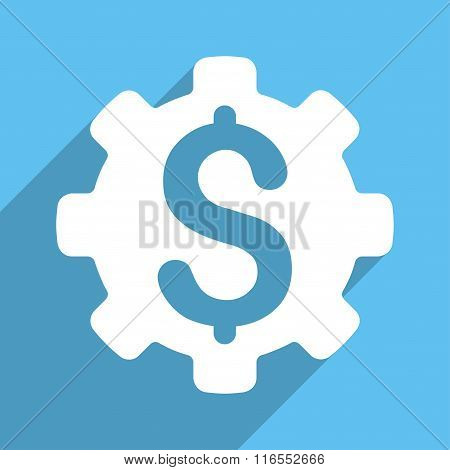 Dollar Options Long Shadow Square Icon