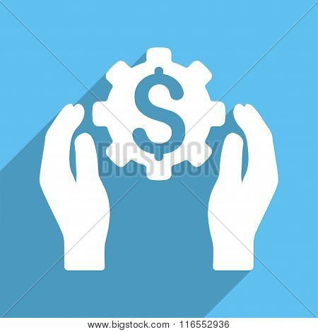 Financial Insurance Options Long Shadow Square Icon