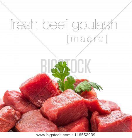 Pile Of Juicy Beef Cubes, Macro