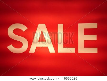Sepia Text Sale From Fluorescent Lamp
