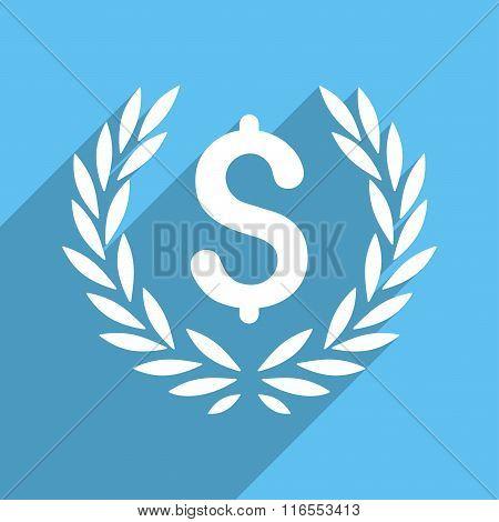 Laurel Bank Emblem Long Shadow Square Icon