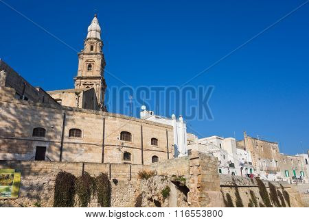 Panoramic view of Monopoli. Puglia. Southern Italy.