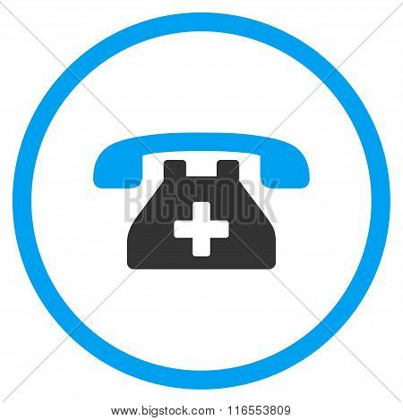 Clinic Phone Rounded Icon