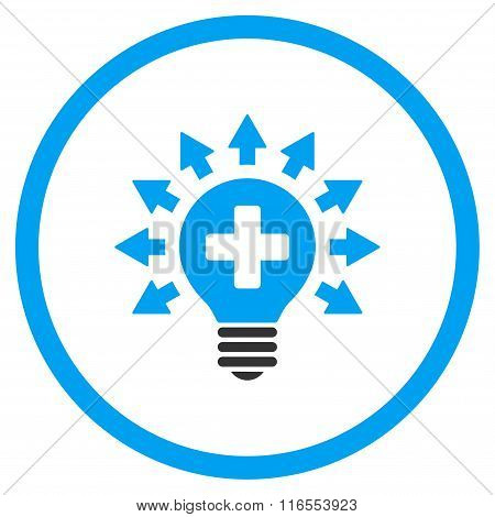 Disinfection Lamp Rounded Icon