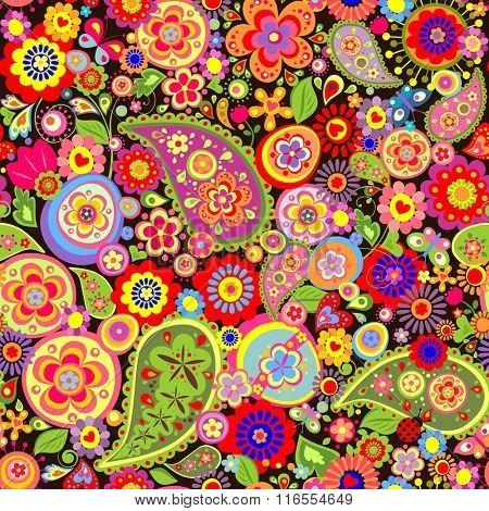 Easter floral wallpaper