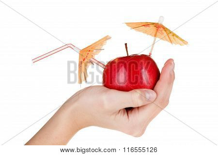Concept Image Of Fresh Apple Juice