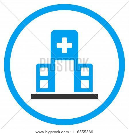 Hospital Building Rounded Icon