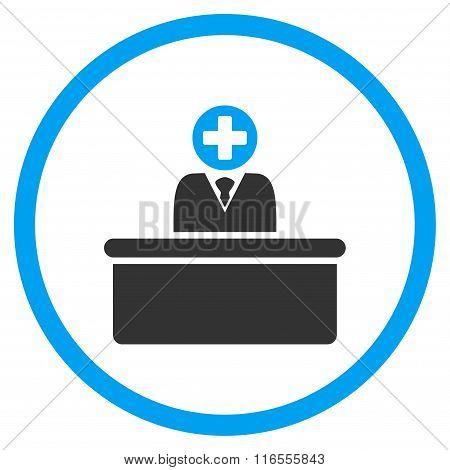 Medical Bureaucrat Rounded Icon
