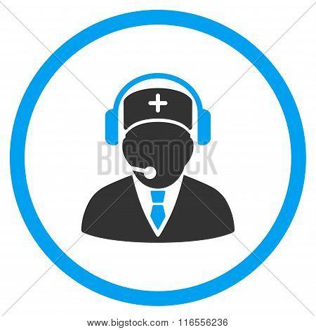 Medical Emergency Operator Rounded Icon