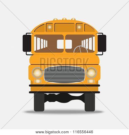 Yellow School Bus Illustration