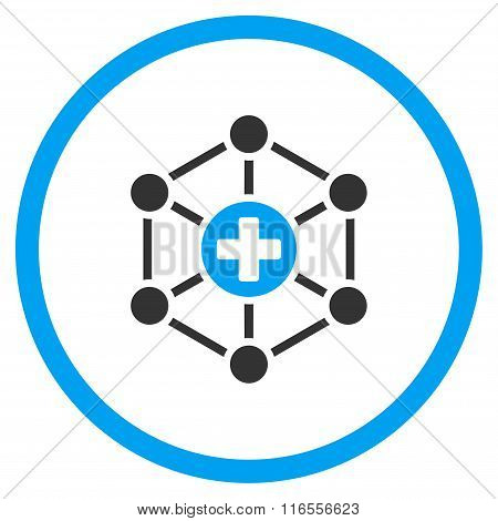 Medical Network Rounded Icon