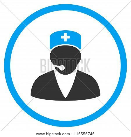 Medical Operator Rounded Icon