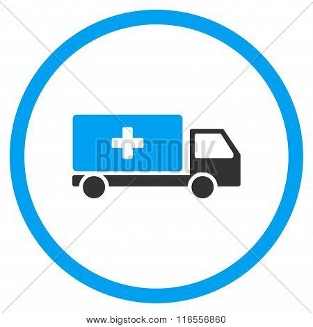 Medical Shipment Rounded Icon